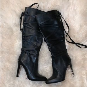Vince Camuto black Knee High boots size 8